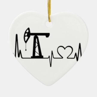 Pumpen-Jack-Herzschlag Keramik Ornament