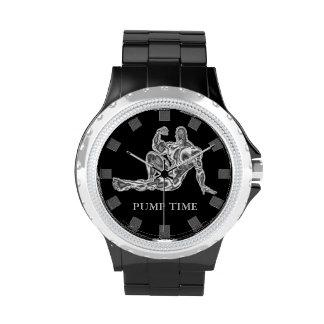 Pumpen-Zeit-Bodybuilder-Armbanduhr