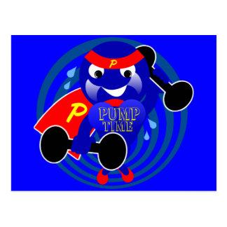 Pumpen-ZeitWeightlifter Postkarte