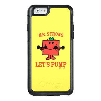 Pumpendes Eisen mit Herrn Strong OtterBox iPhone 6/6s Hülle