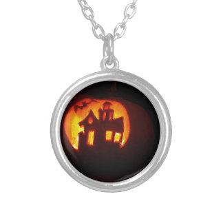 Pumpkin_craft_for_Halloween Versilberte Kette