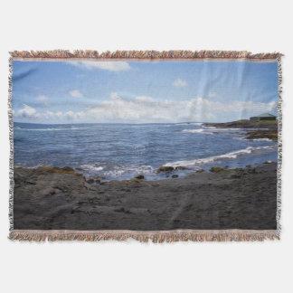 Punalu'u schwarzer Sand-Strand Hawaii Decke