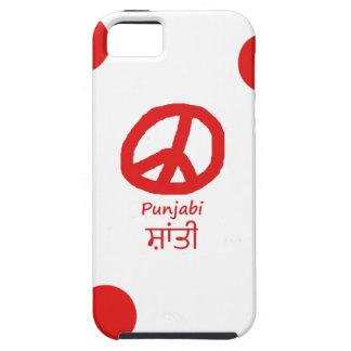 Punjabi-Sprache und Friedenssymbol-Entwurf Etui Fürs iPhone 5