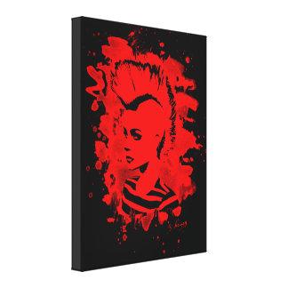 Punk Girl – bleached red Leinwanddruck