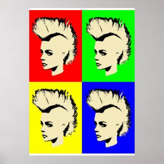 Punk Girl – Pop Art Vers. I Poster