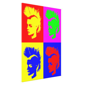 Punk Girl – Pop Art Vers. II Leinwand Druck