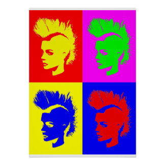 Punk Girl – Pop Art Vers. II Poster