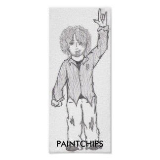 Punk-Hippie-Plakat
