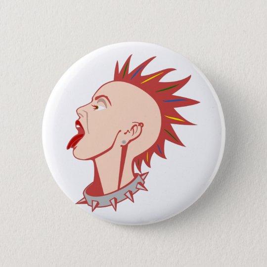 Punk Punkerin punk girl Runder Button 5,7 Cm
