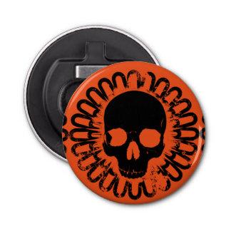 Punk Schädel-Muster-Spaß-Halloweens Goth Runder Flaschenöffner