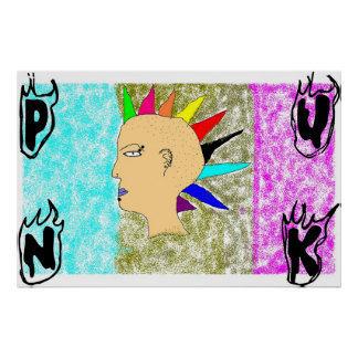 Punkkind Posterdrucke