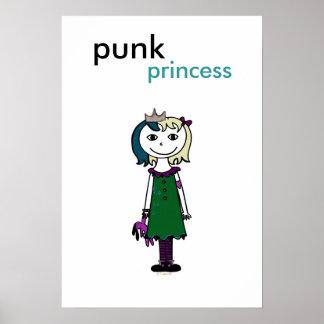 Punkprinzessin (blondes Haar) Poster