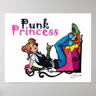 """Punkprinzessin"" Druck Poster"
