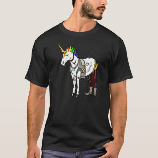 Punkrock-Einhorn-T-Shirt T-Shirt