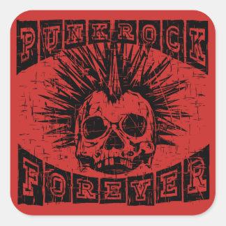 Punkrock für immer quadratischer aufkleber