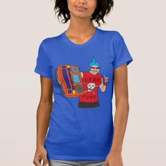 Punkrocker mit Boombox T-Shirt