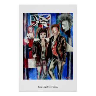 Punkrockmusik-Modebild Poster