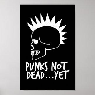 Punks nicht absolut… dennoch Schädel-Dunkelheit Poster