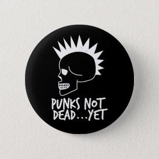 Punks nicht absolut… dennoch Schädel-Dunkelheit Runder Button 5,1 Cm