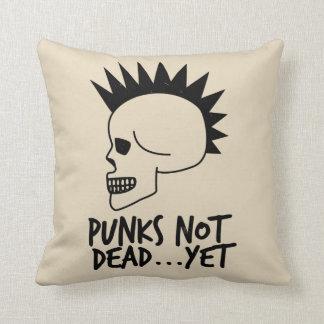 Punks nicht absolut… dennoch Schädel-Weiß Kissen