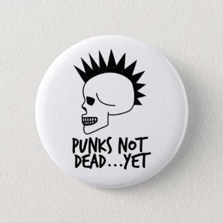 Punks nicht absolut… dennoch Schädel-Weiß Runder Button 5,7 Cm
