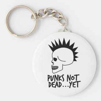Punks nicht absolut… dennoch Schädel-Weiß Schlüsselanhänger