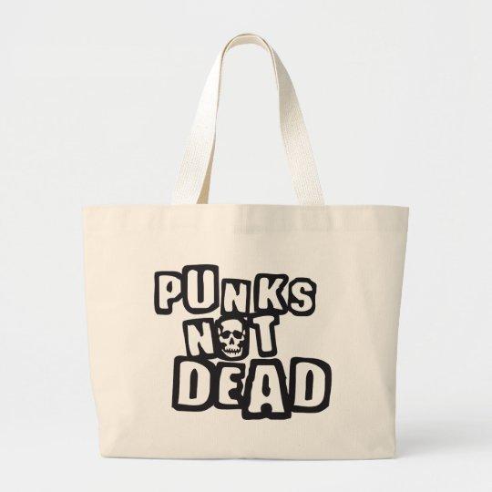 punks not dead jumbo stoffbeutel