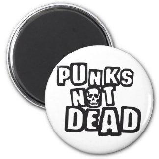 punks not dead runder magnet 5,1 cm
