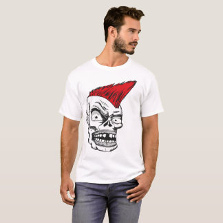 Punks Skull Shirt Design Comic Tattoo Style