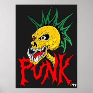 Punkschädel Poster
