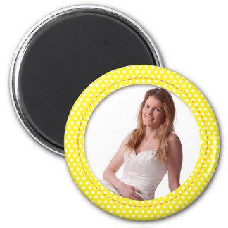 Punkt-Feld im Gelb Magnete