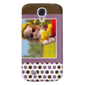 Punkt-Foto-Gewohnheit 3G (lila) Galaxy S4 Hülle