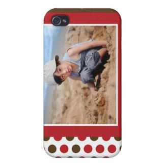 Punkt-Foto-kundenspezifischer Kasten iPhone4 (rot) iPhone 4 Case