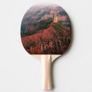Punkt Kaiser und Berg Hayden am Sonnenuntergang Tischtennis Schläger
