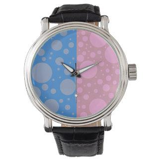 Punkt-kundenspezifisches schwarzes Vintages Leder Uhr