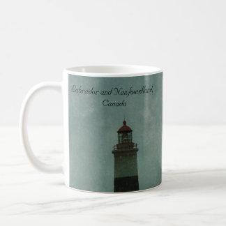 Punkt-Liebes-Leuchtturm, Neufundland und Labrador Kaffeetasse
