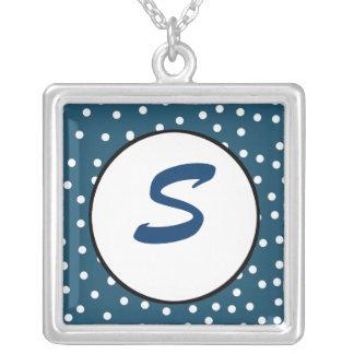 Punkt-Monogramm-Halskette Halskette Mit Quadratischem Anhänger