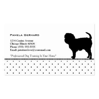 Punkt-Monogramm-HundeSilhouette-Tier bezogen Visitenkarten
