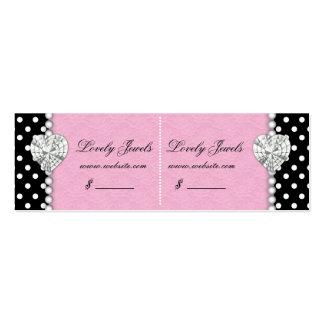 Punkt-Perlen-Spitze Jewels Preis-rosa Doppeltes Visitenkarte
