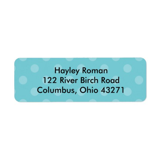 Punkt-personalisiertes Adressen-Etikett, blau