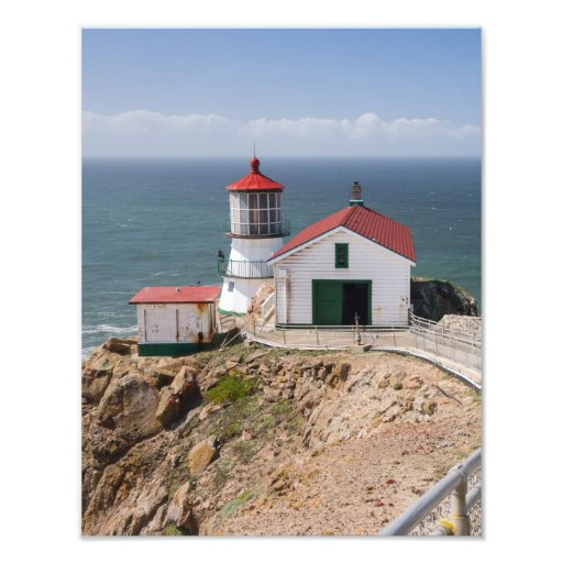 Punkt-Reyes-Leuchtturm, Marin County, Kalifornien Foto Druck