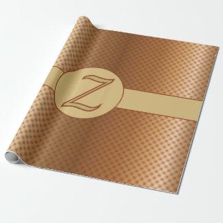 Punkt-Verpackungs-Papier des Monogramm-Z goldenes Geschenkpapierrolle