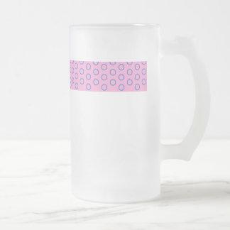 pünktchen lila pink rosa punkte polka dots tupfen mattglas bierglas