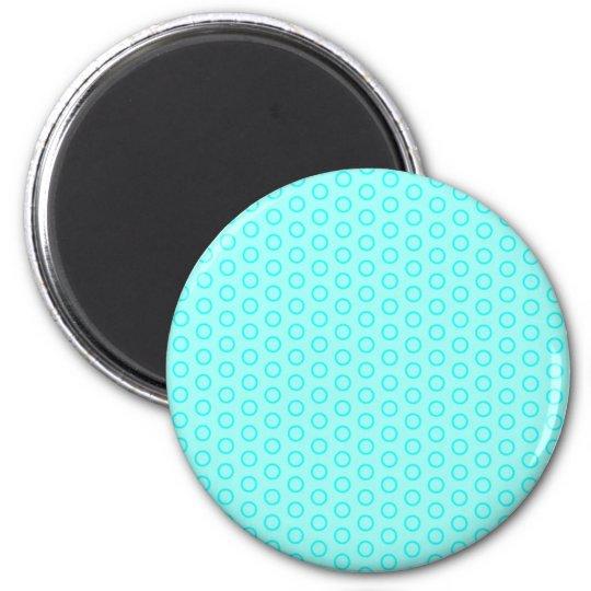 pünktchen punktierte muster erbsen kreise retro do runder magnet 5,7 cm