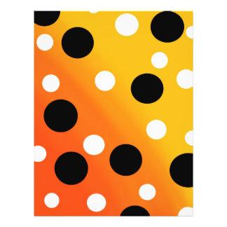 Punkte auf gemischtem OrangeToYellow Flyer
