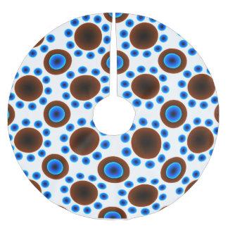 Punkte des Baumrock WeihnachtsRetro blauen Brauns Polyester Weihnachtsbaumdecke
