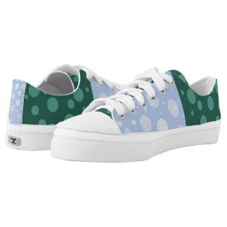 Punkte kundenspezifische Zipz niedrige Niedrig-geschnittene Sneaker