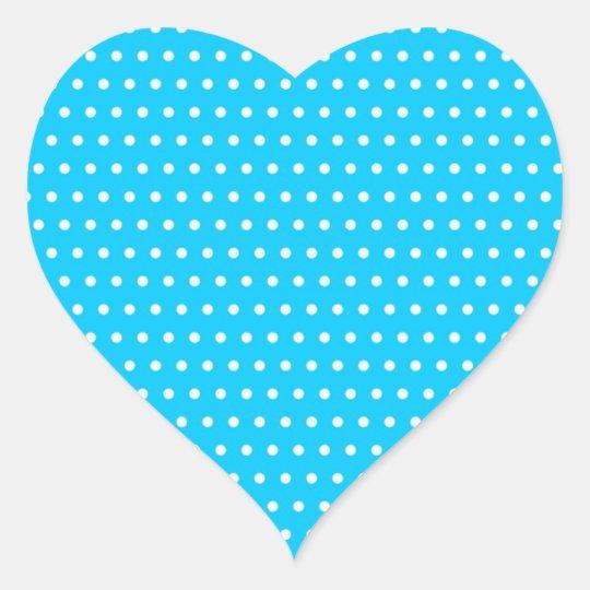 punkte muster gepunktet polka dots tupfen getupft Herz-Aufkleber