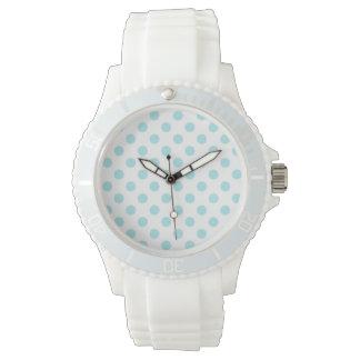 PUNKTE: Sportliche weiße das Silikon-Uhr der Uhr