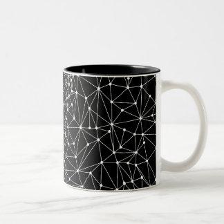 Punkte und Linien Zweifarbige Tasse